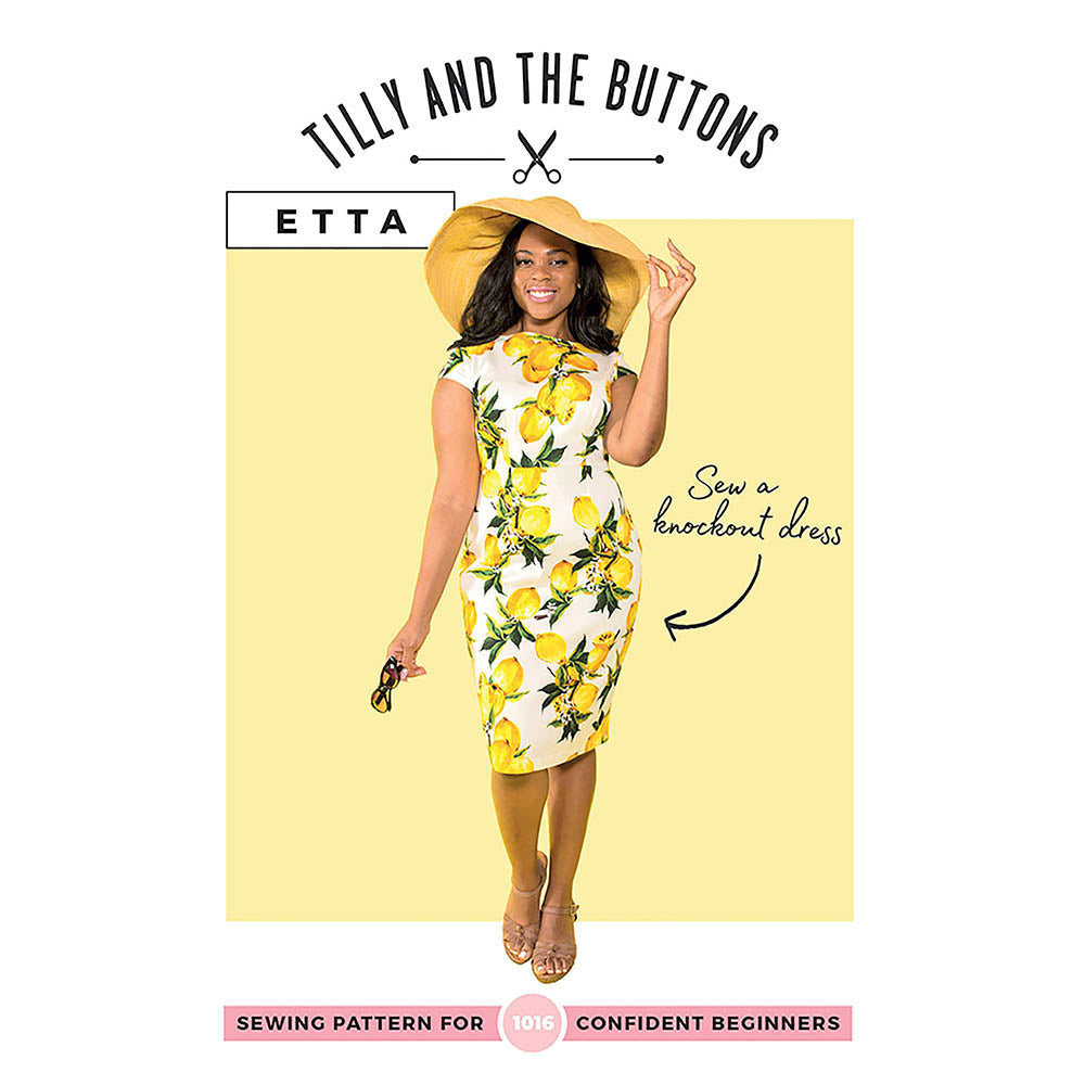 1016 Etta Fitted Dress - Tilly and the Buttons Pattern - Frumble Fabrics