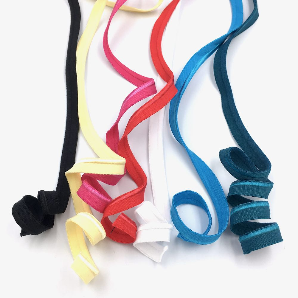 sewing elastic piping edge trim plush satin for jersey, stretch, swimwear and sports fabrics and dressmaking