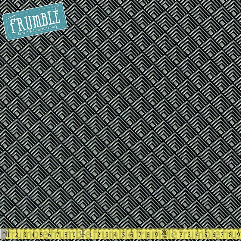 Black & White Log Cabin Grey - Frumble Fabrics