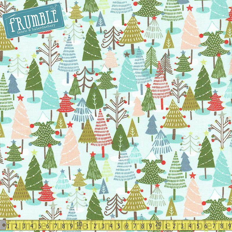 Happy Holidays Forest Multi Fabric by Fabric Editions