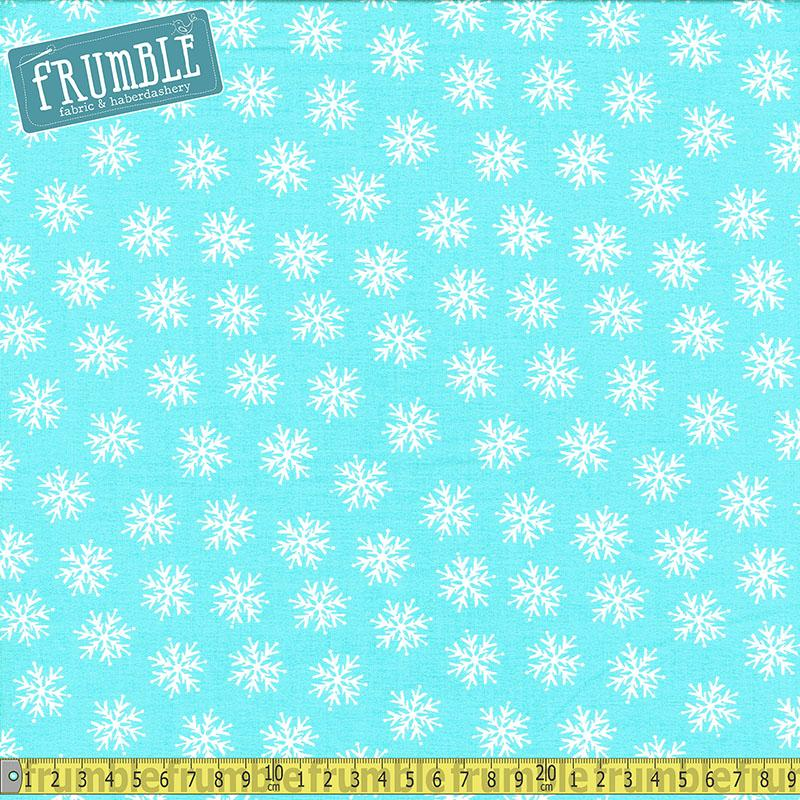 Merry Forest Snowflake Blue Fabric by Fabric Editions