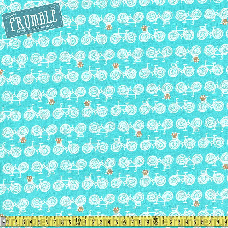 Sugar Go by Bike Blueberry Fabric by Free Spirit