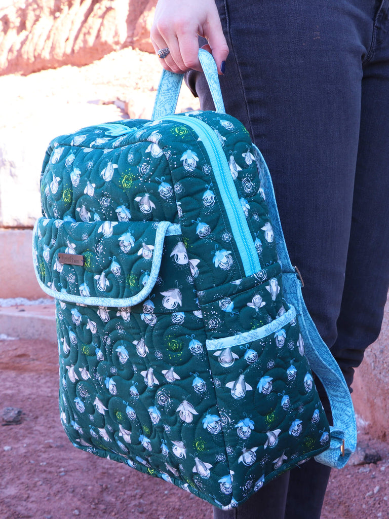 GOT YOUR BACK 2.0 Backpack Pattern By Annie. Gorgeous sewing pattern with beautiful finishing touches perfect size for a day out bag with room for a laptop, a few clothes or a picnic.
