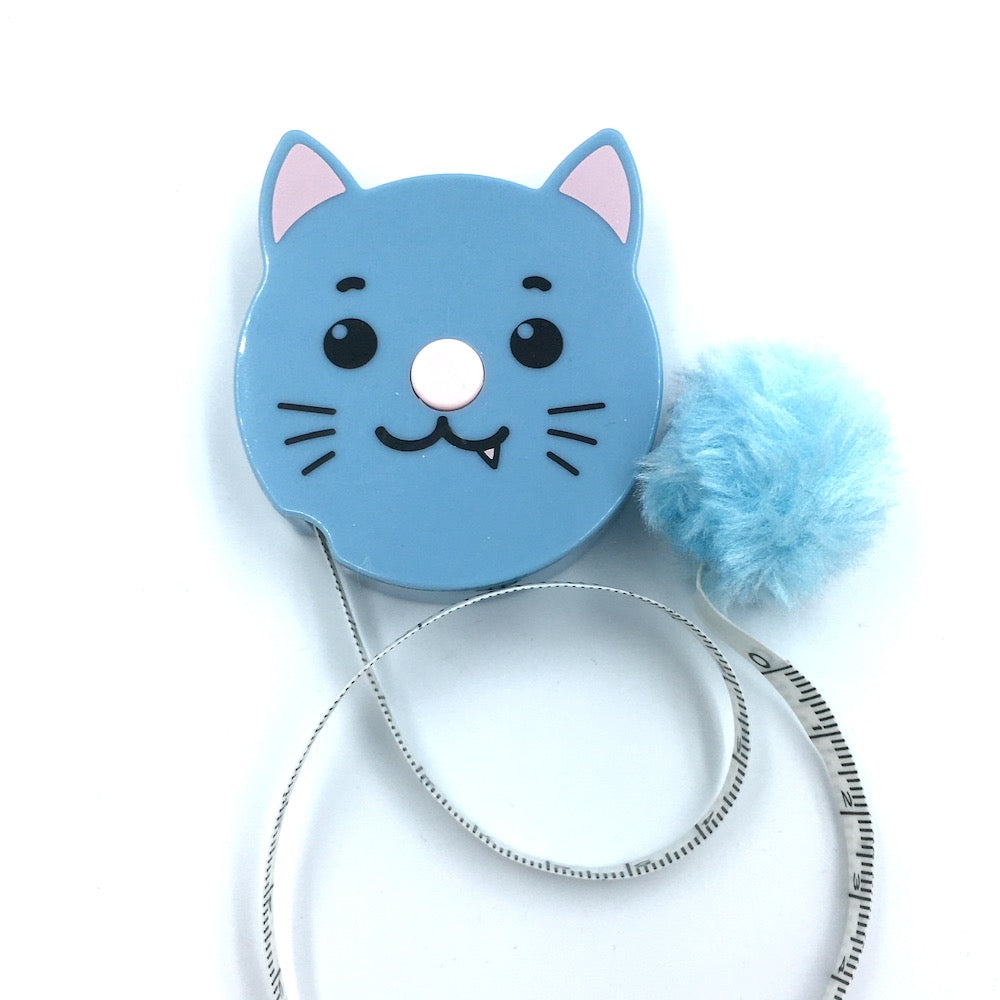 Pom pom Animals Tape Measure - Cat - Frumble Fabrics