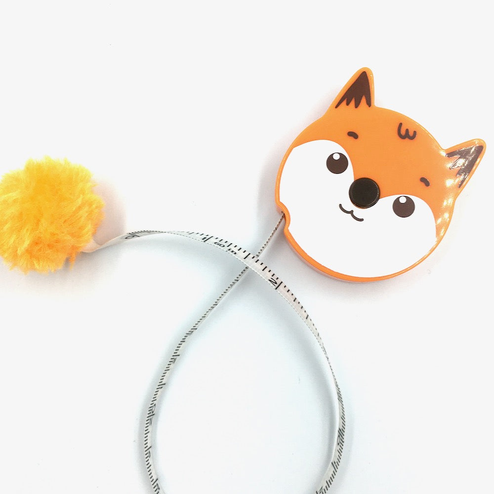 Pom Pom Animals Tape Measure - Fox - Frumble Fabrics