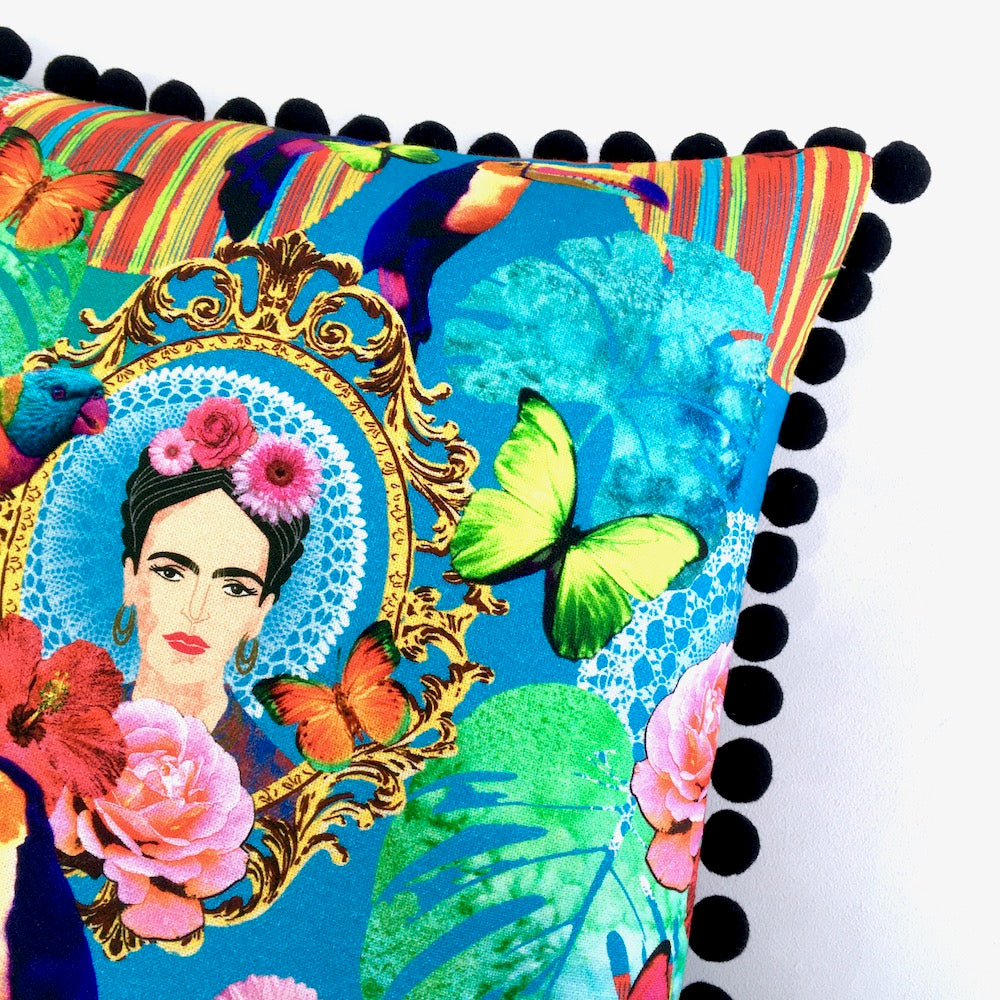 Frida Mexico Floral Cushion Panel Project Kit - Frumble Fabrics