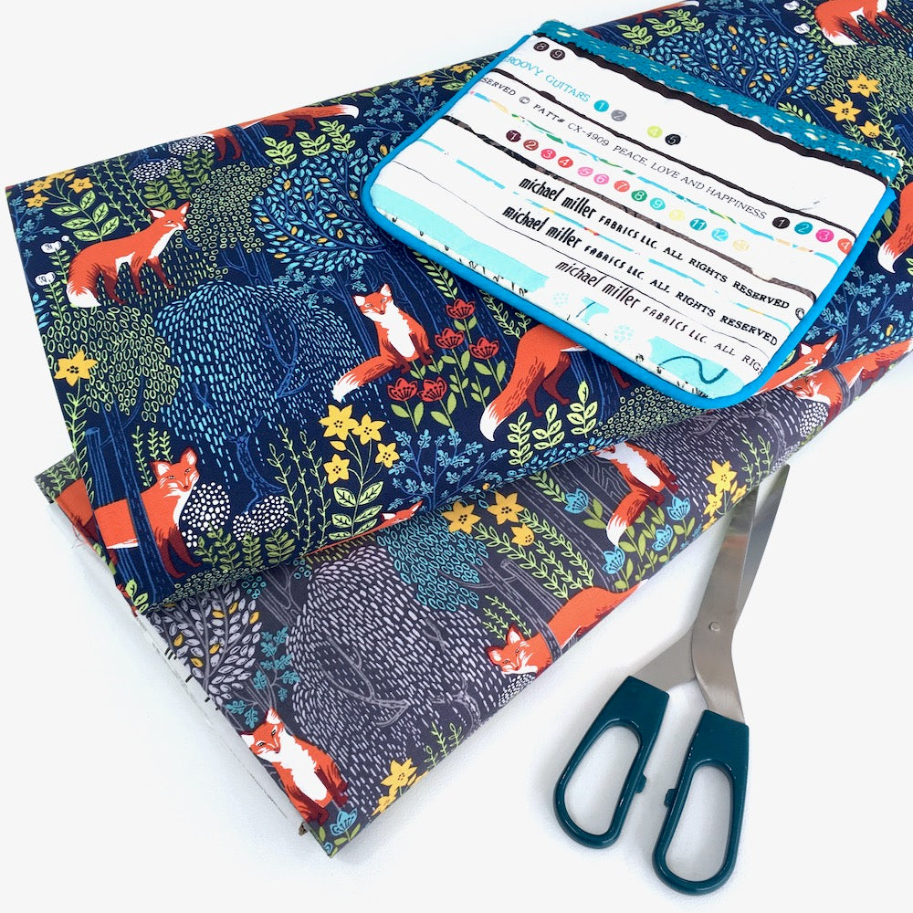 Foxes Into The Woods Dusk Grey - Frumble Fabrics