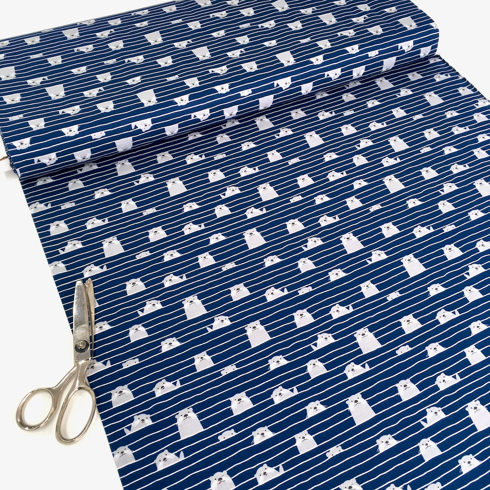Otter Assembly Navy - Frumble Fabrics