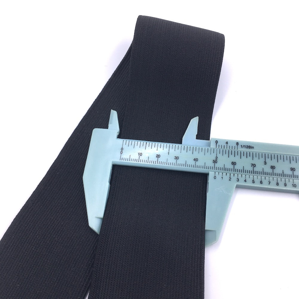 Waistband Elastic 50mm Black - Frumble Fabrics