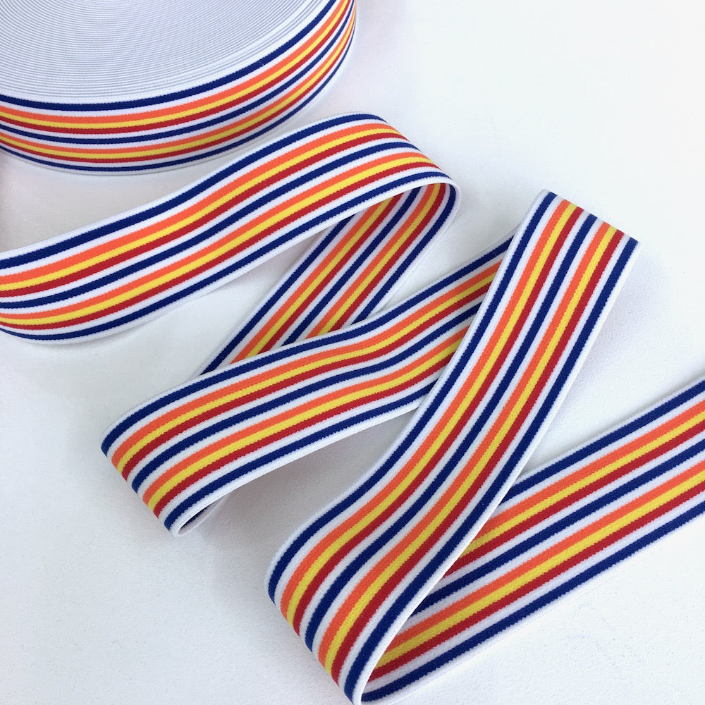 40mm Thin Stripe Waistband Beach - Frumble Fabrics