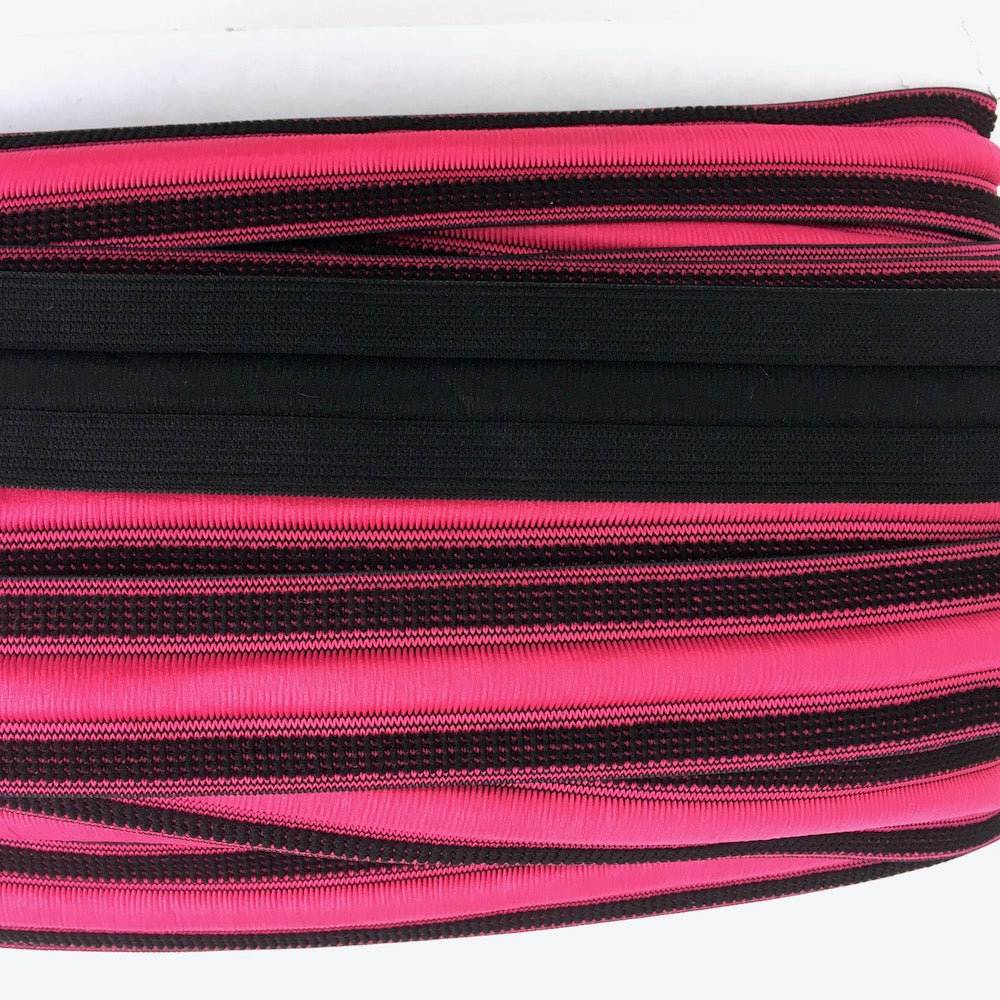 Elastic Sport Waistband with Integrated Cord in Pink - Frumble Fabrics
