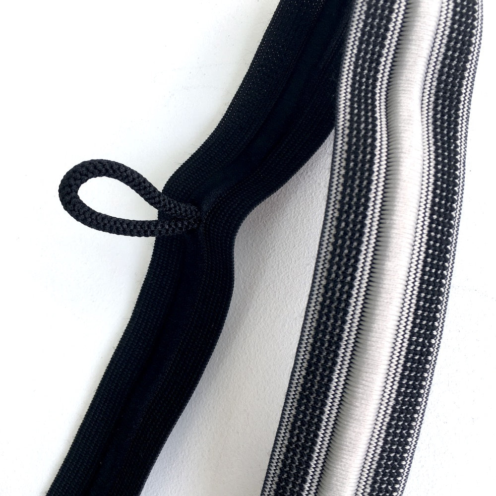 Elastic Sport Waistband with Integrated Cord in Grey - Frumble Fabrics