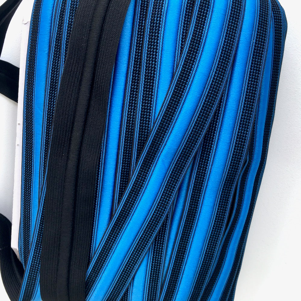 Elastic Sport Waistband with Integrated Cord in Blue - Frumble Fabrics