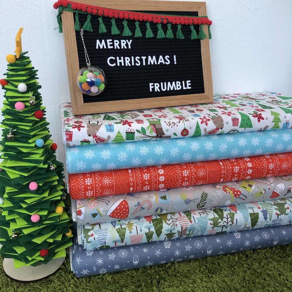 Happy Christmas Fat Quarter Pack - Frumble Fabrics