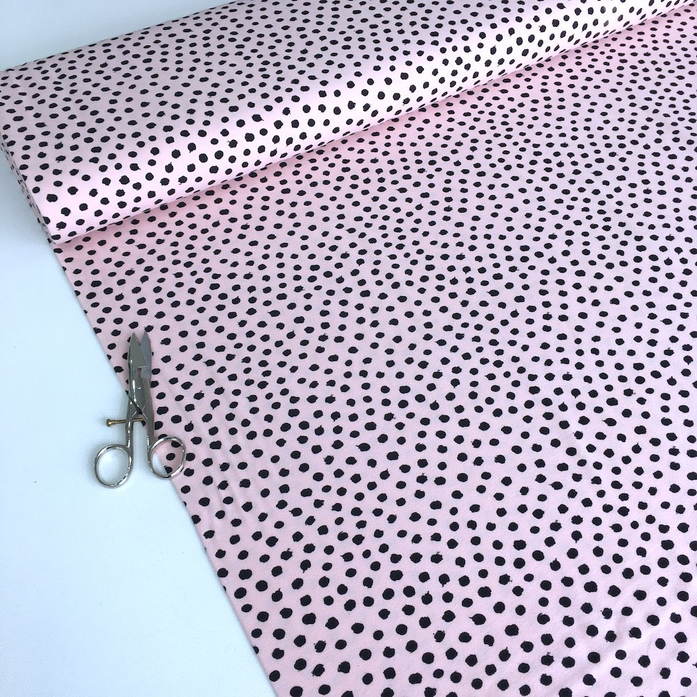 Dotty Dots GOTS Organic Jersey Light Pink - Frumble Fabrics