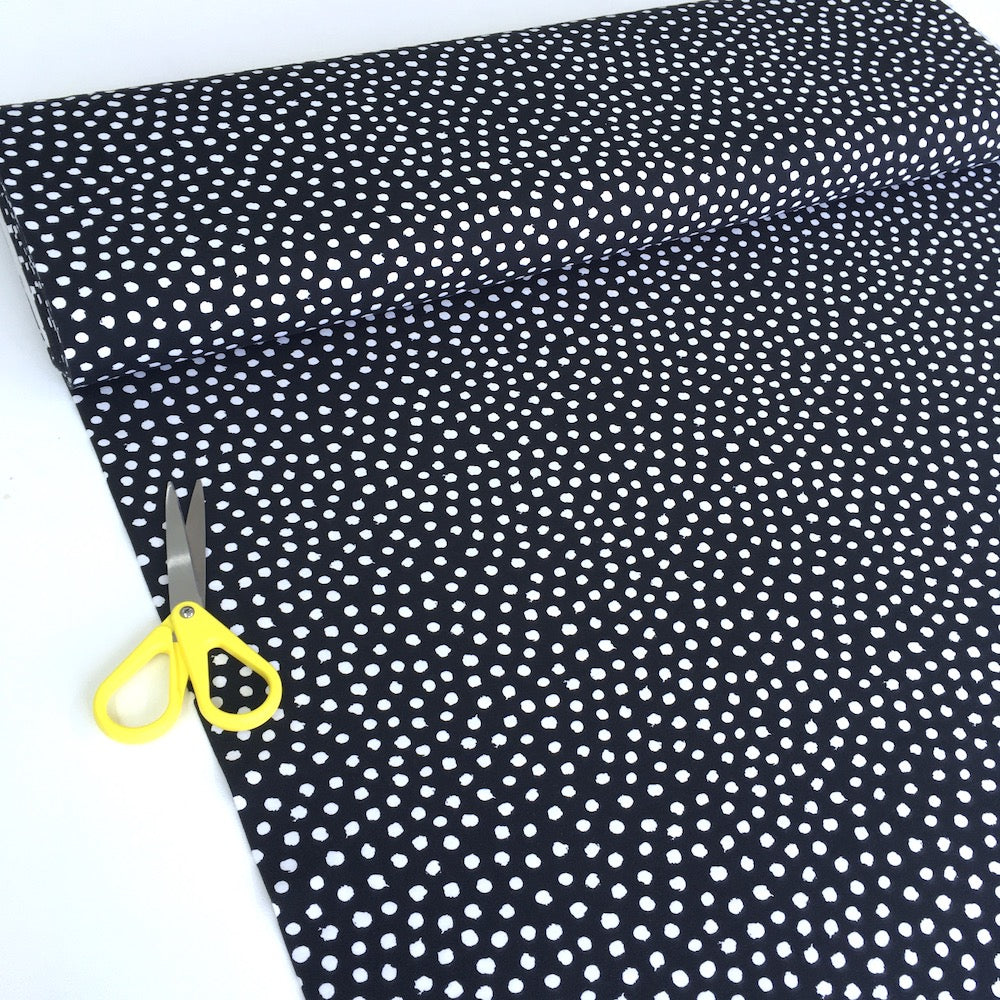 Dotty Dots GOTS Organic Jersey Black