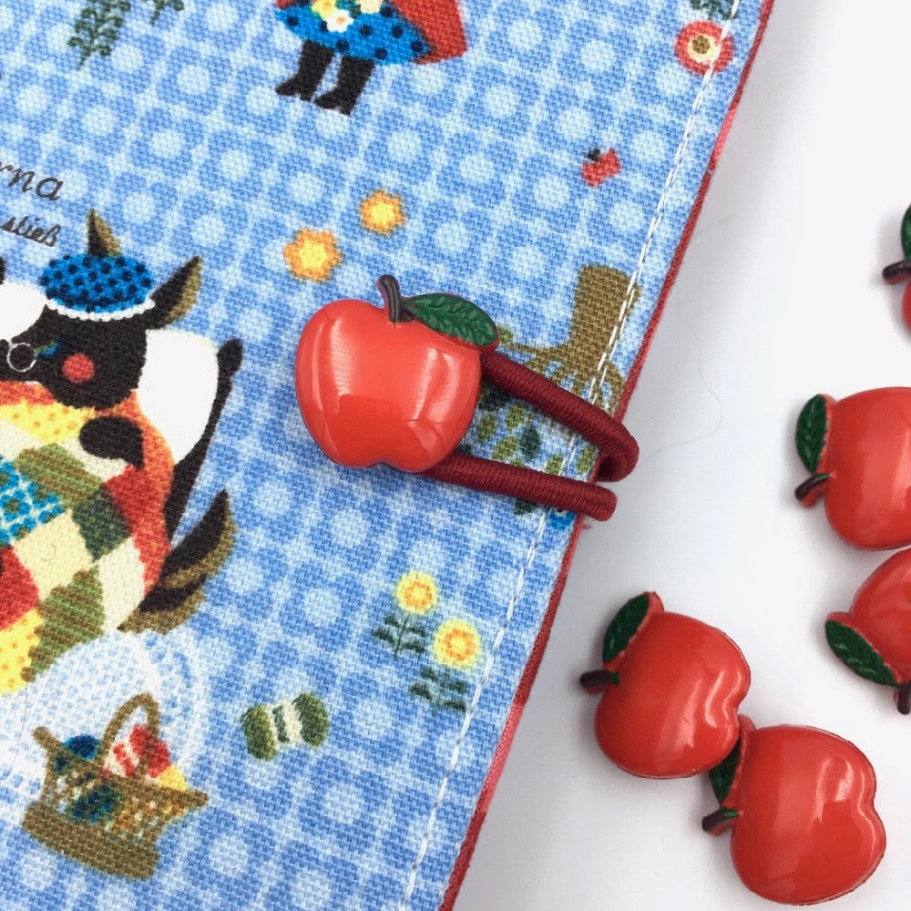 Red Apple Sewing Buttons - 10 pack - Frumble Fabrics