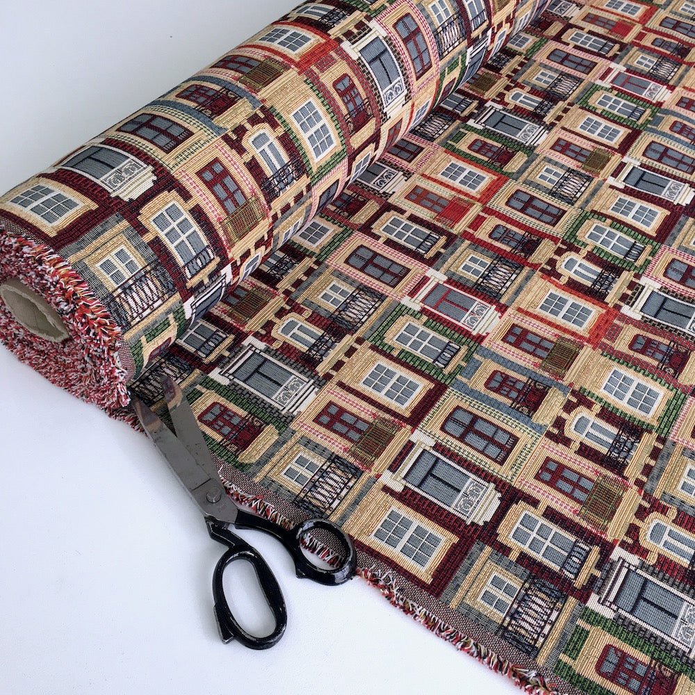 Windows of Porto New World Tapestry Canvas Fabric - Frumble Fabrics