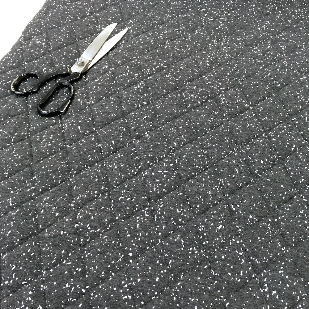 Little Sprinkles - Quilted Wadding Jersey - Dark Grey