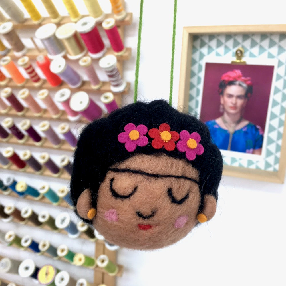 Frida Felted Wool Felt Decoration Bauble