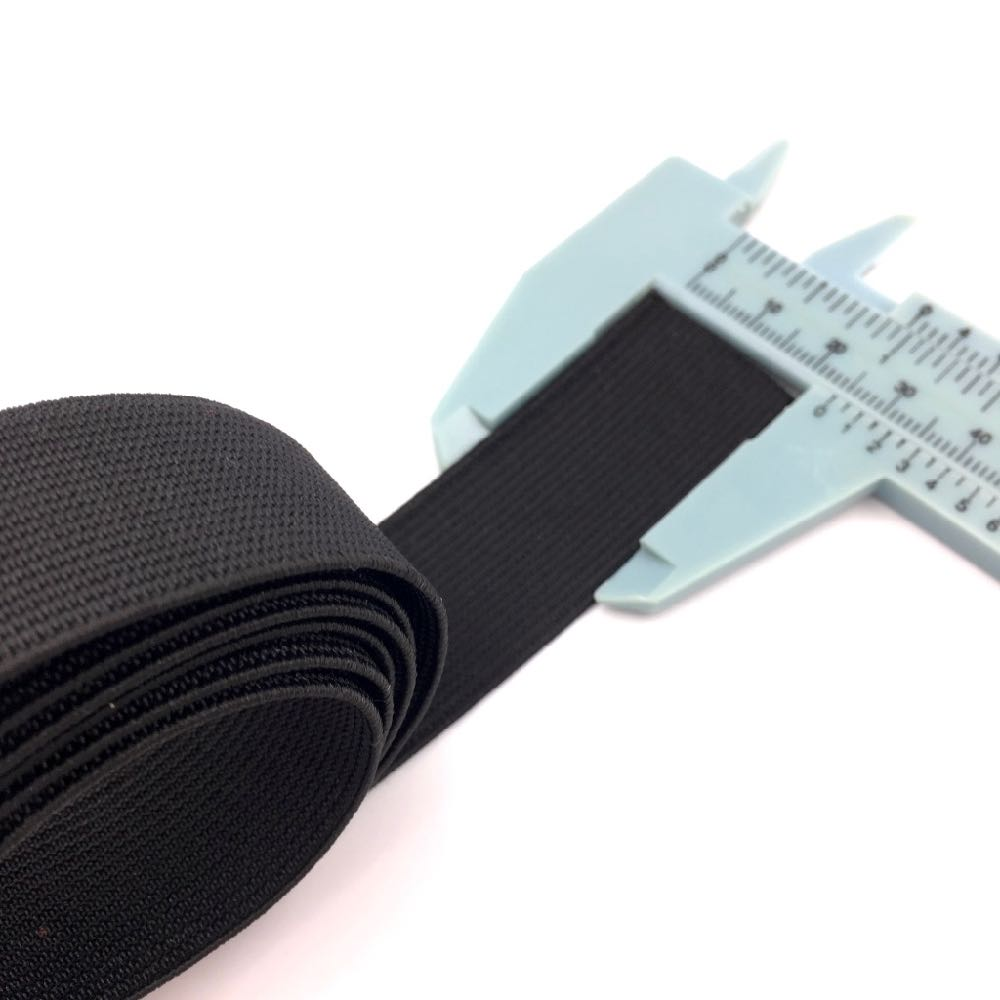 Waistband Elastic 25mm Black - Frumble Fabrics