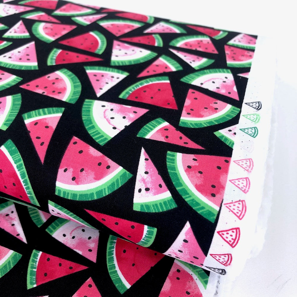 Watermelon Slices Black - Frumble Fabrics
