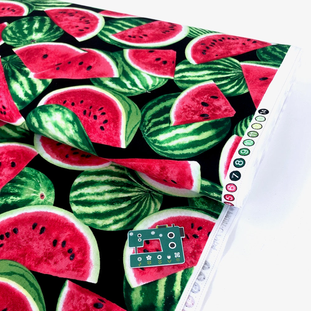 Packed Watermelon Black - Frumble Fabrics