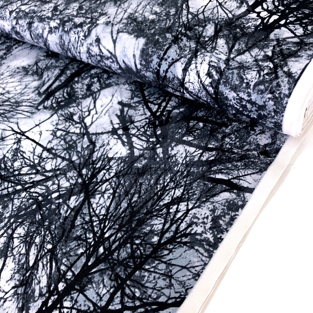 Spooky Trees Black - Frumble Fabrics