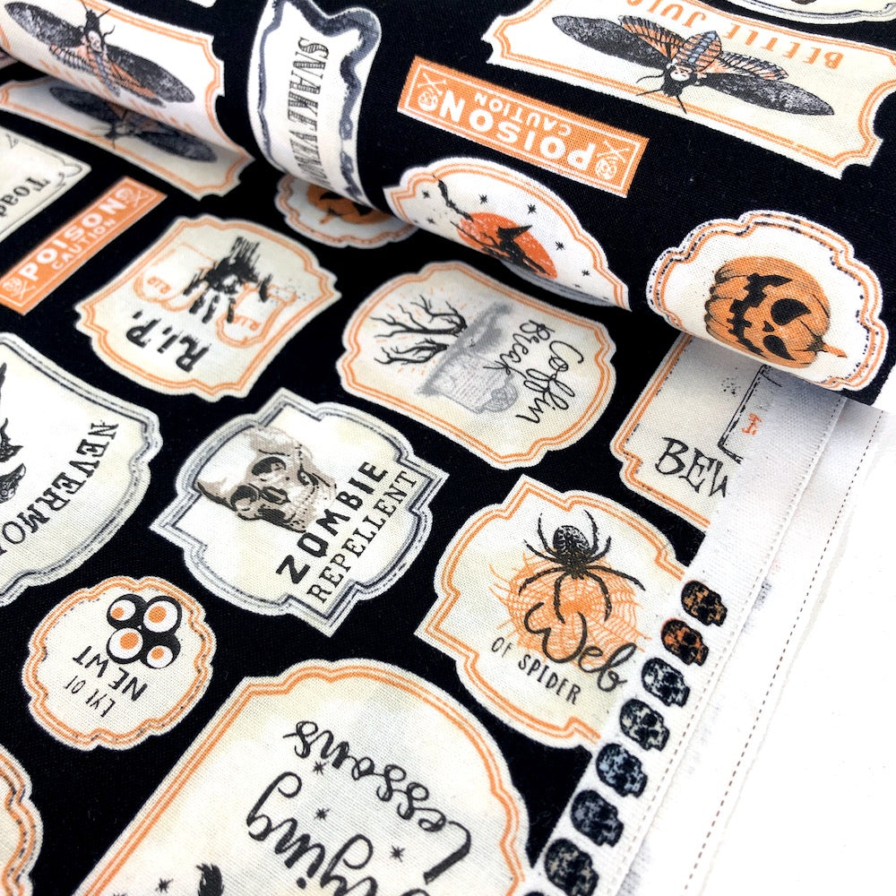 Antique Halloween Signs Black