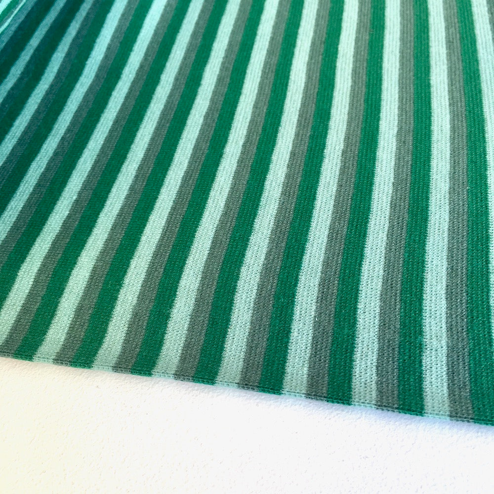 Forest Greens Stripe Cotton Ribbing Tube