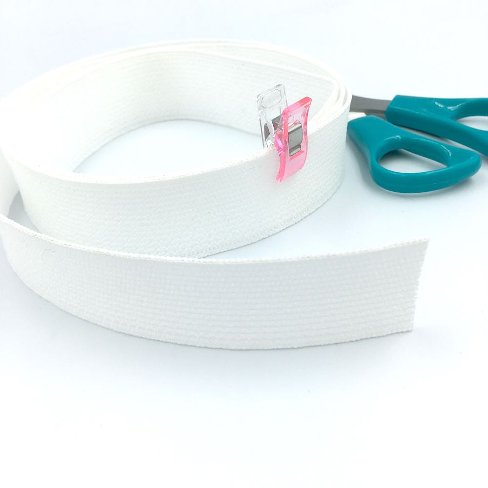 Peta-stretch Non Roll Waistband Elastic 32mm White - Frumble Fabrics