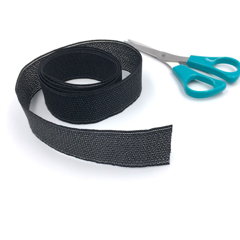 Peta Stretch 32mm non roll waistband elastic perfect for sewing and dressmaking garments.