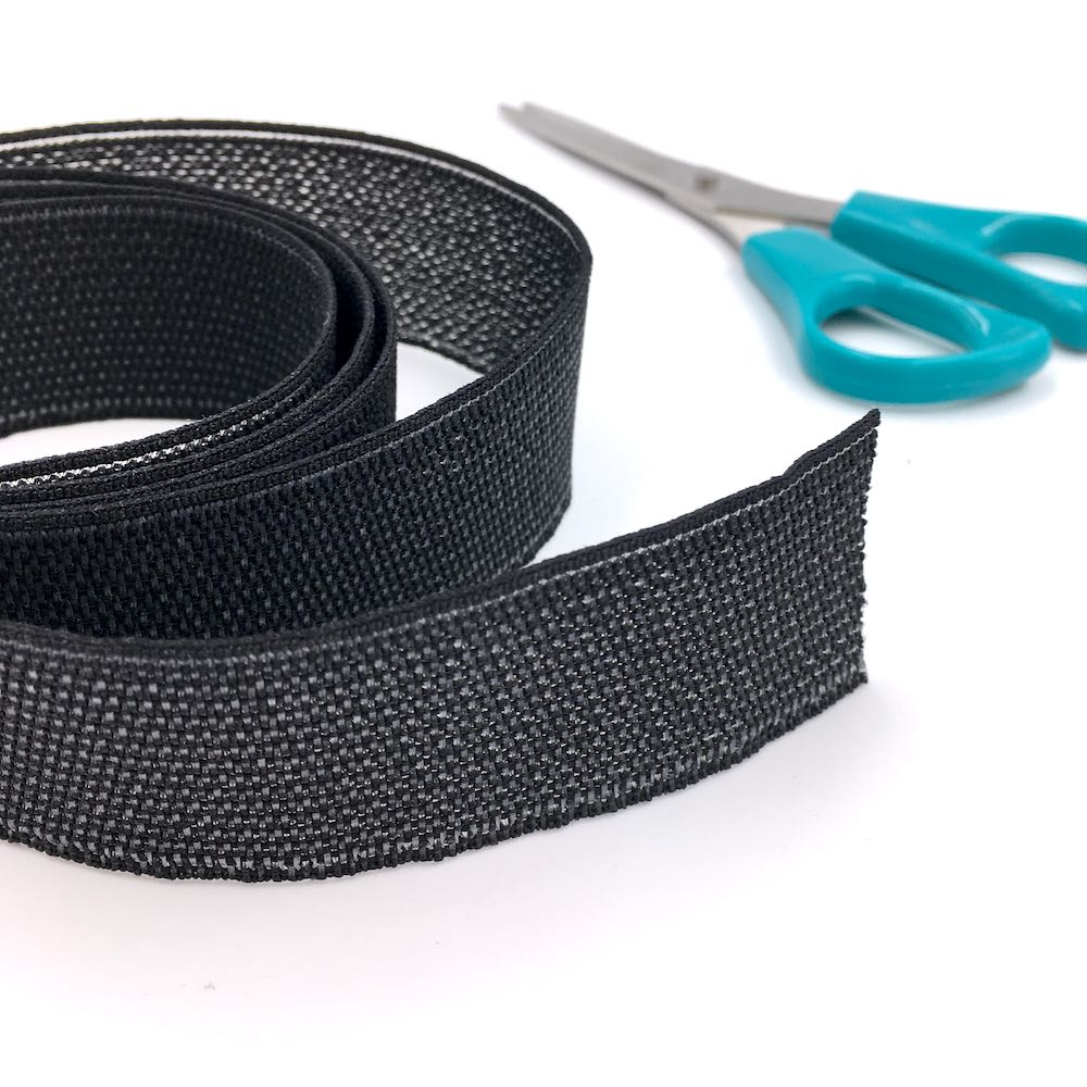 Peta-stretch Non Roll Waistband Elastic 32mm Black - Frumble Fabrics
