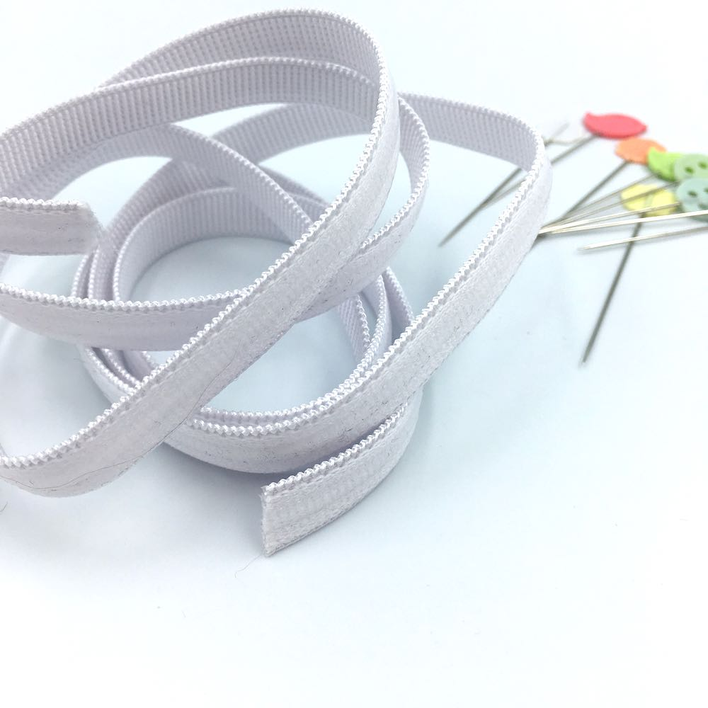 Silicone Grip Elastic 10mm White - Frumble Fabrics