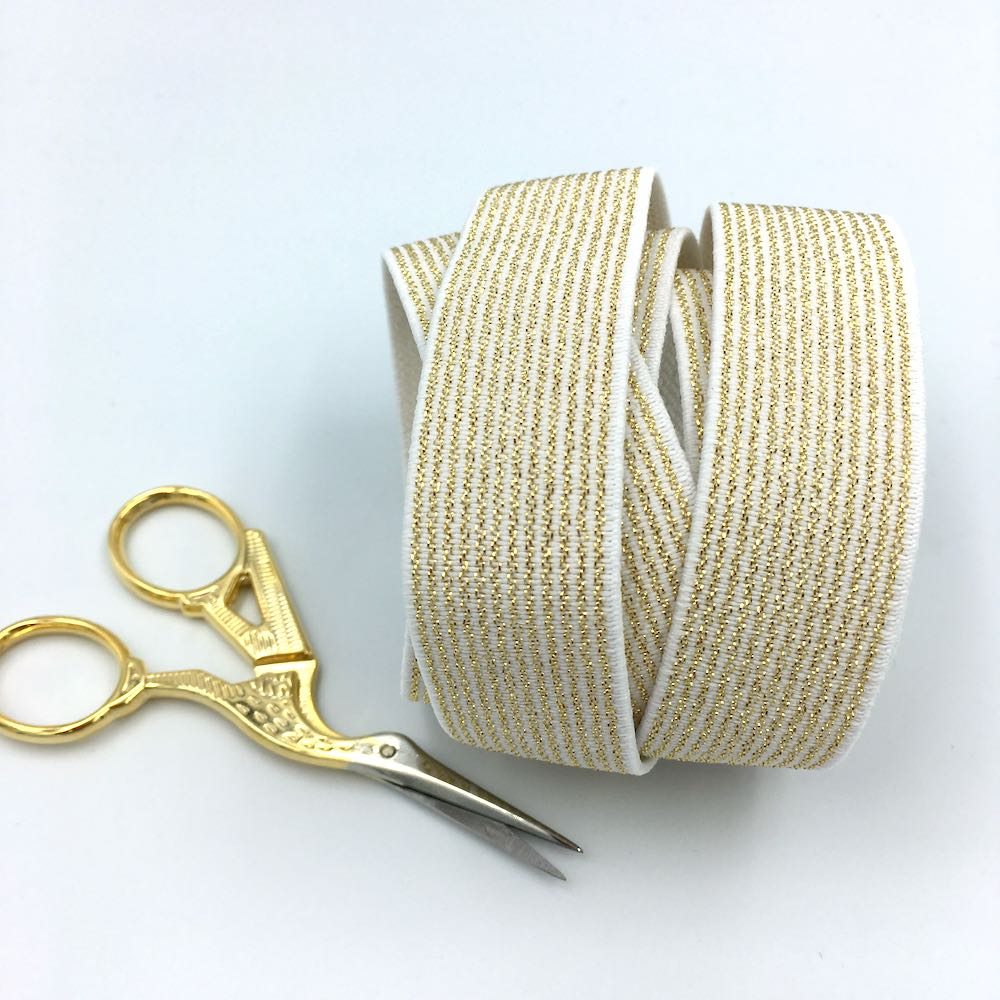 Gold Stripes Waistband Elastic 25mm