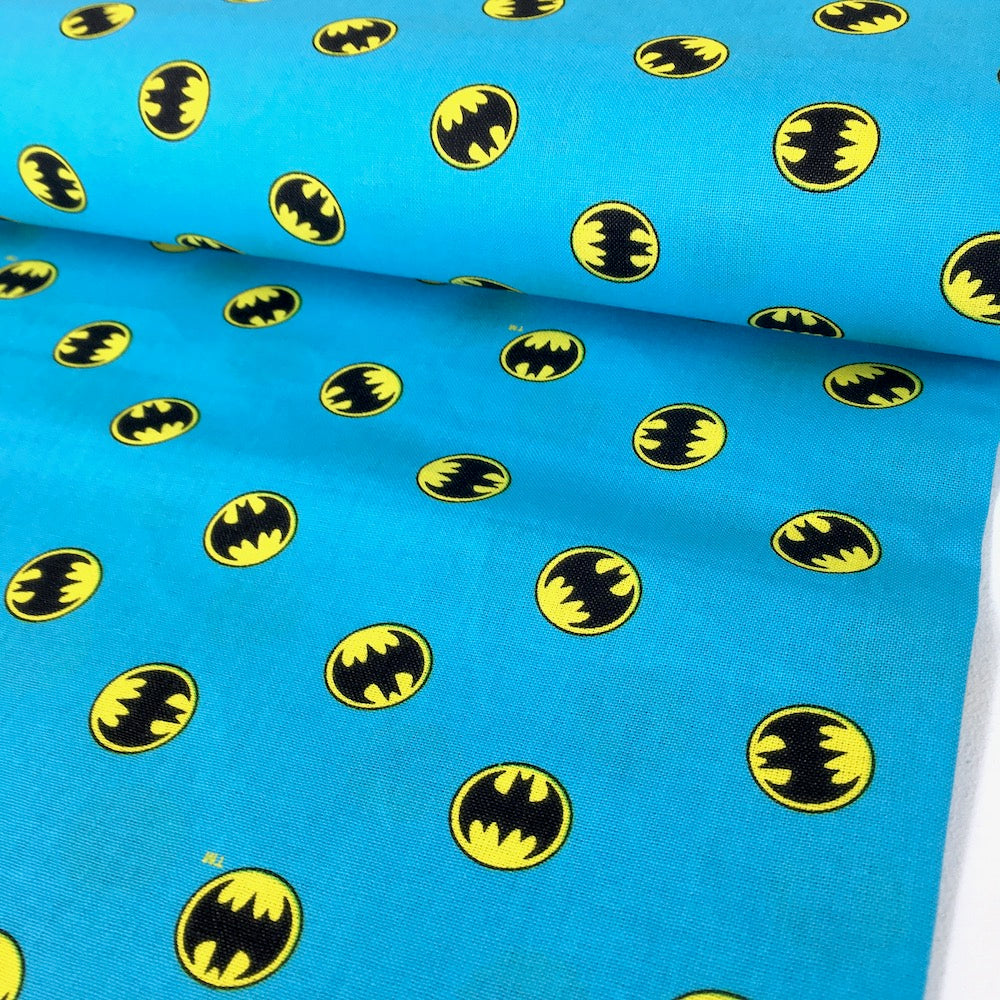 Camelot - Licensed Cottons - DC Batmam Small Logo Blue