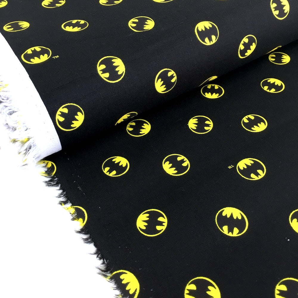 Camelot - Licensed Cottons - DC Batmam Small Logo Black