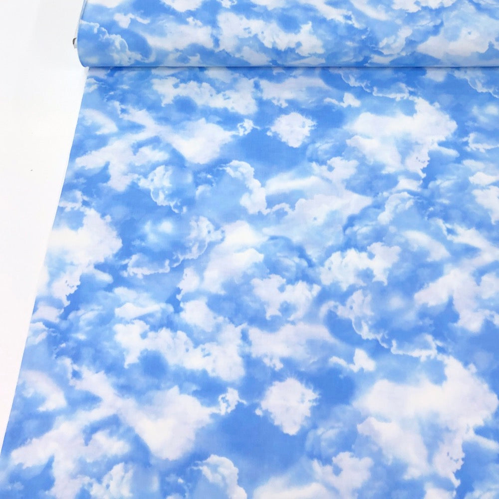 Little Fluffy Clouds Blue - Frumble Fabrics