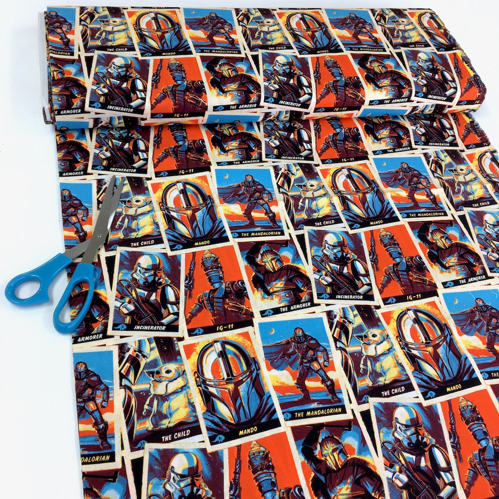 Camelot - Licensed Cottons - Star Wars Mandalorian Trading Cards Multi