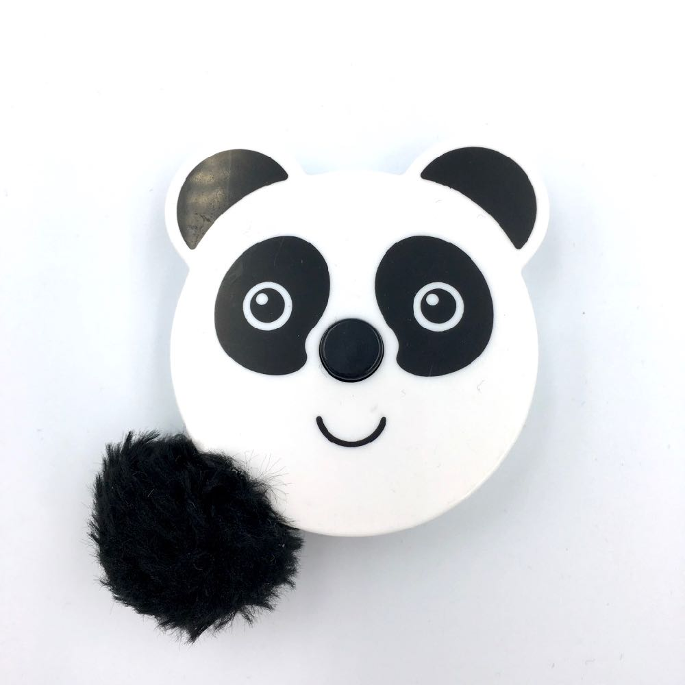 Pom pom Tail Animals Tape Measure - Panda - Frumble Fabrics