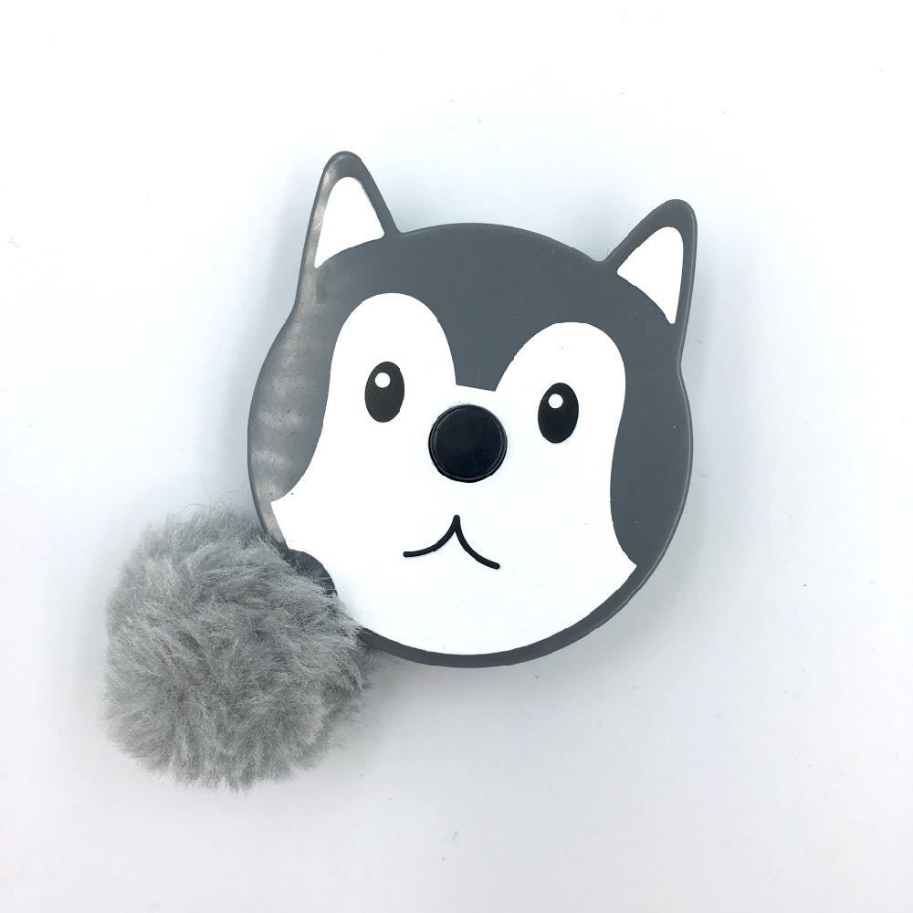 Pom pom Tail Animals Tape Measure - Wolf - Frumble Fabrics