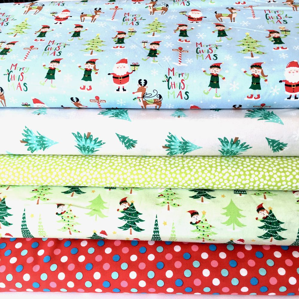 Santa & Elves Christmas Forest Fat Quarter Pack - Frumble Fabrics