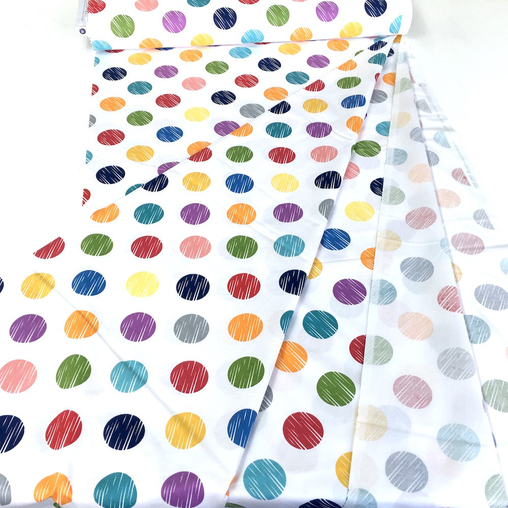 Windham Fabrics - 108 Inch Quilt Backer - Multi Dots White