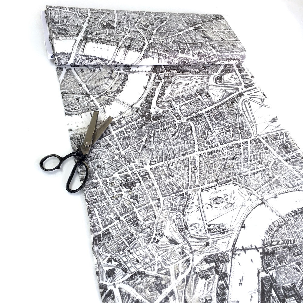 Windham Fabrics - London City Map - Ivory