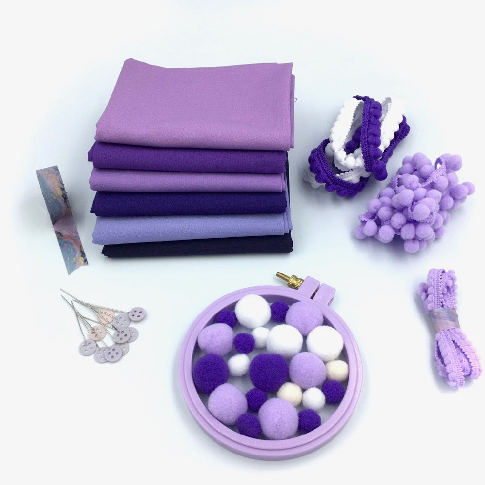 Lilac Lovers Kona FQ Bundle