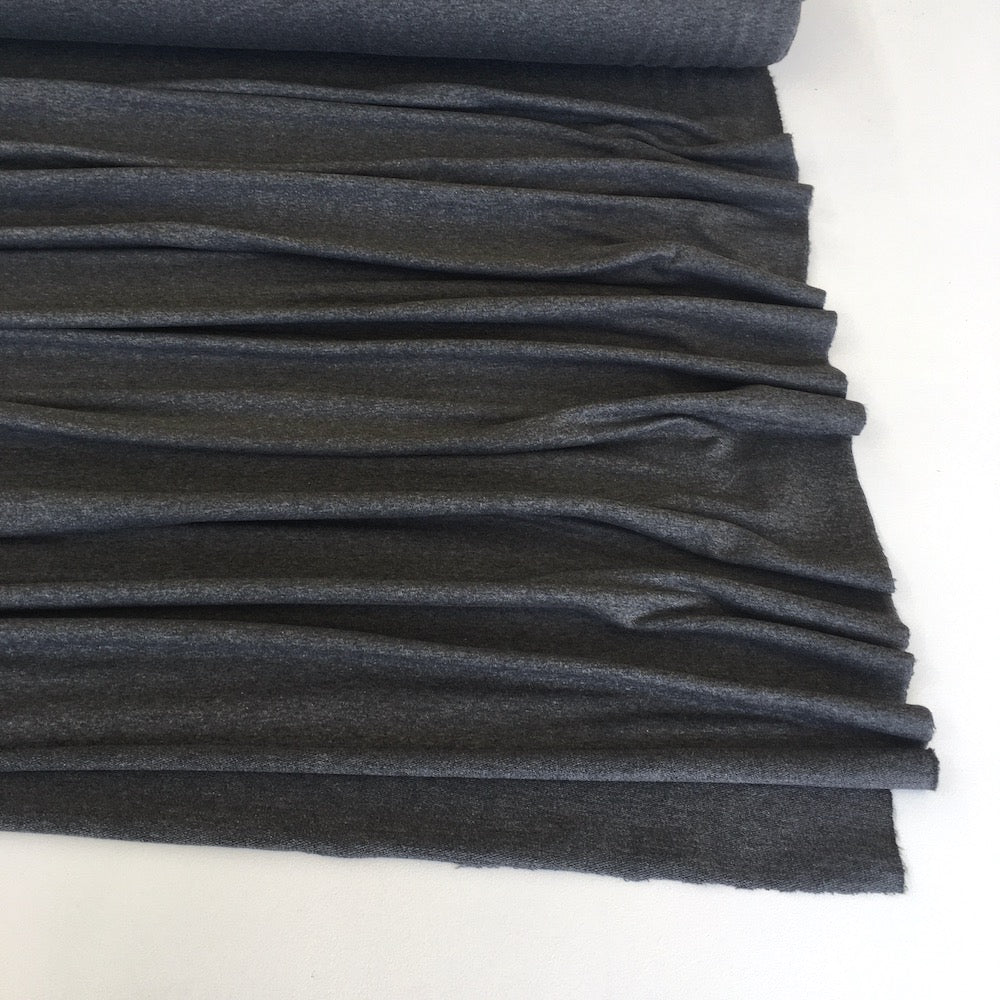 Dark Grey Marl Premium French Terry - Frumble Fabrics