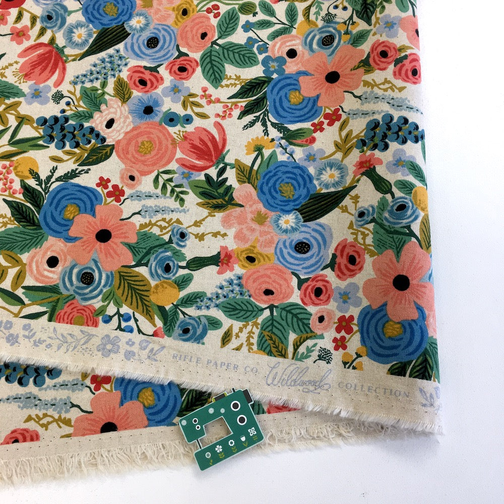 Cotton and Steel CANVAS - Rifle Paper Co - Wildwood Garden Party Blue