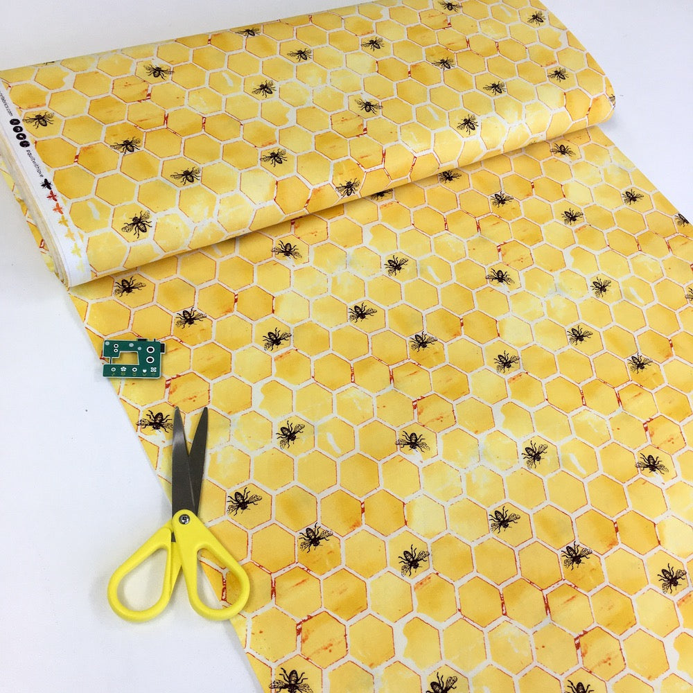 Cotton and Steel - Pollinator - Bumblehoney Yellow