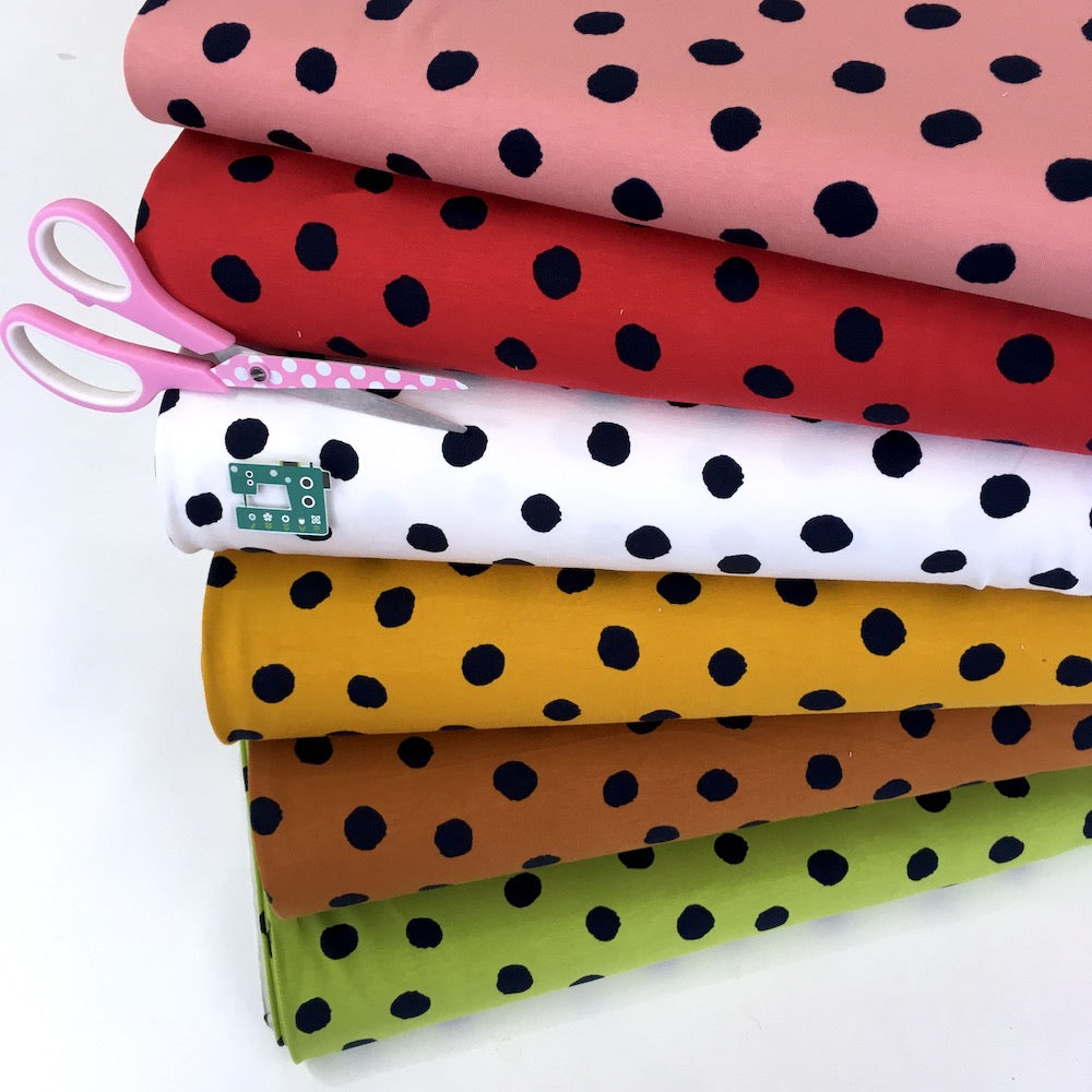 Big Dots - GOTS Organic French Terry - Dusty Pink