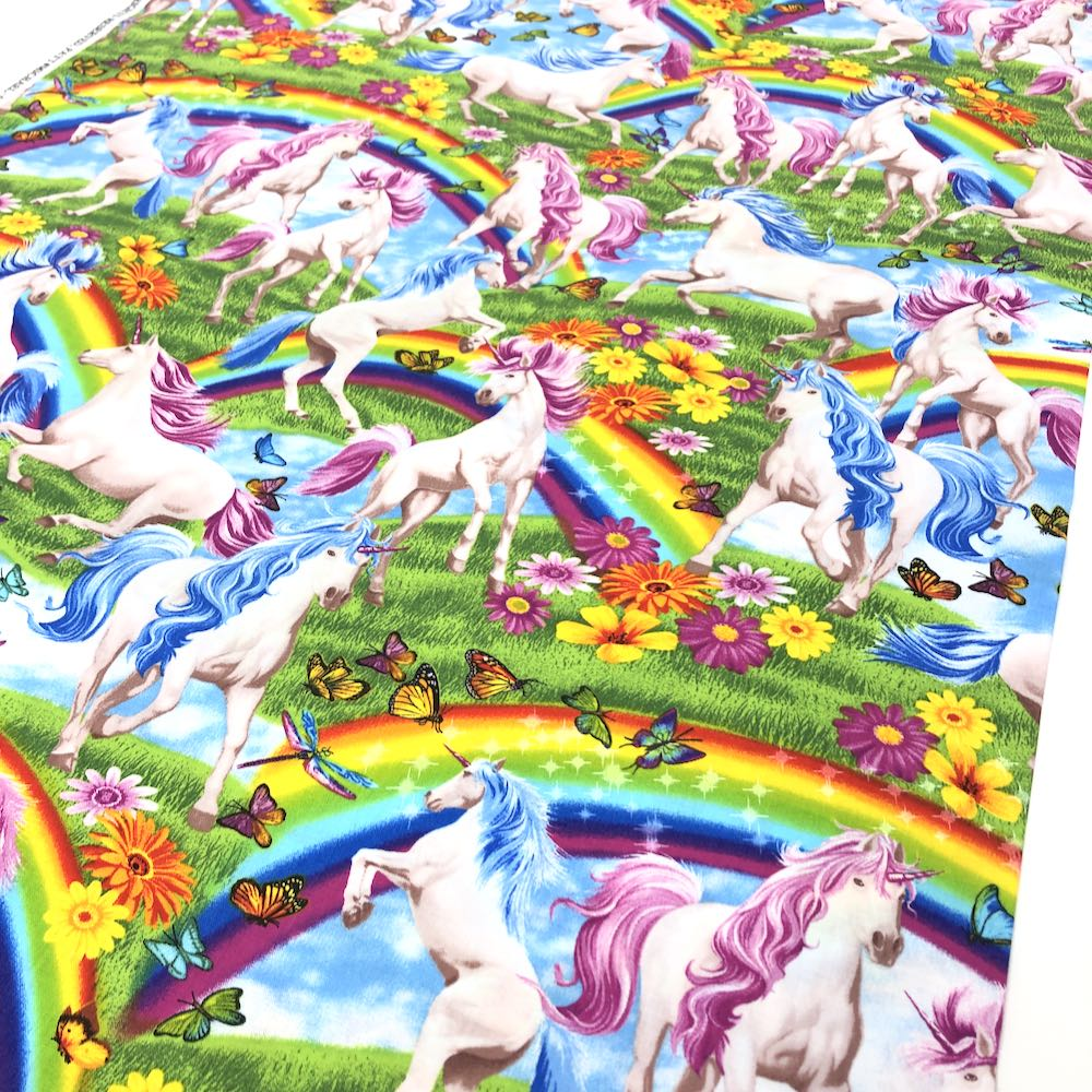 Scenic Rainbows & Unicorns - Frumble Fabrics